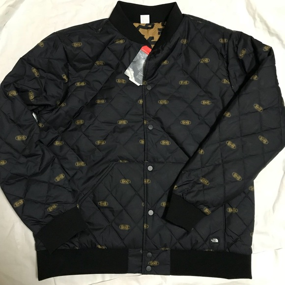 fbe9cacdebd5 NWT North Face Jester Jacket Black Tan Reversible
